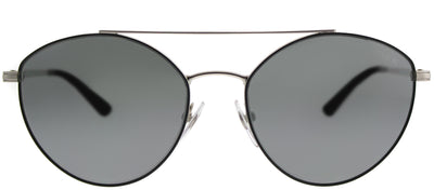 Vogue VO 4023S 352/6G Cat-Eye Metal Black Sunglasses with Silver Mirror Lens