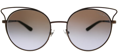 Vogue VO 4048S 5074B7 Cat-Eye Metal Brown Sunglasses with Violet Gradient Mirror Lens