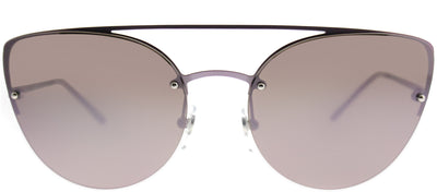 Vogue VO 4074S 50765R Cat-Eye Metal Pink Sunglasses with Pink Mirror Lens
