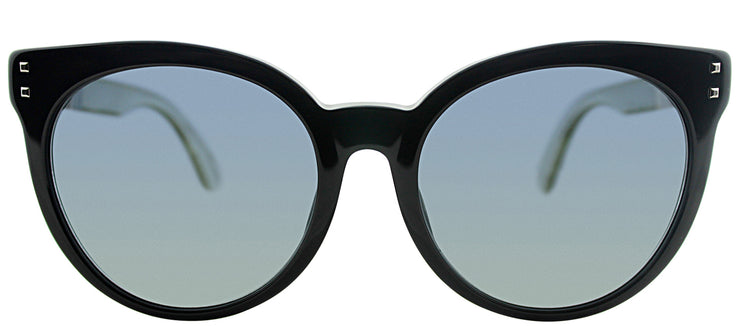 Fendi FF 0083FS E6I/HD Round Plastic Black Sunglasses with Grey Gradient Lens