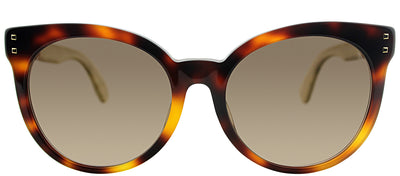 Fendi FF 0083FS E6Z/J6 Round Plastic Tortoise/ Havana Sunglasses with Brown Gradient Lens