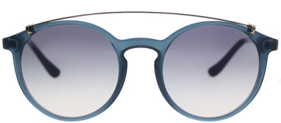 Vogue VO 5161S 25347B Round Plastic Blue Sunglasses with Silver Mirror Lens