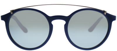 Vogue VO 5161S 259330 Round Plastic Blue Sunglasses with Silver Mirror Lens
