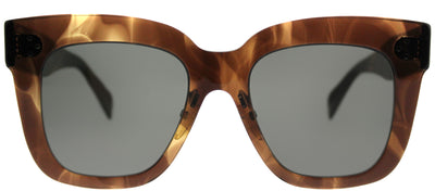 Celine CL 41444 07B Square Plastic Tortoise/ Havana Sunglasses with Grey Lens