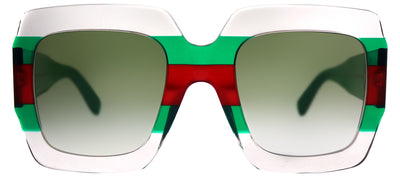 Gucci GG 0178S 001 Fashion Plastic Multicolor Sunglasses with Green Gradient Lens