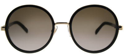 Jimmy Choo JC Andie J7Q J6 Round Metal Black Sunglasses with Brown Gradient Lens