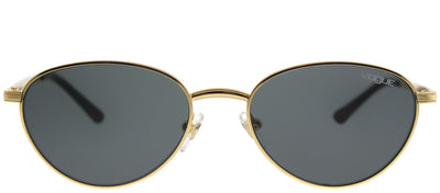 Vogue VO 4082S 280/87 Oval Metal Gold Sunglasses with Grey Lens