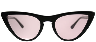 Vogue VO 5211SF W44/5 Cat-Eye Plastic Black Sunglasses with Pink Lens