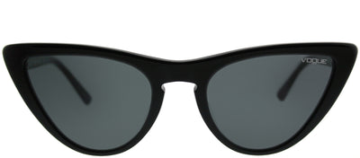 Vogue VO 5211SF W44/87 Cat-Eye Plastic Black Sunglasses with Grey Lens