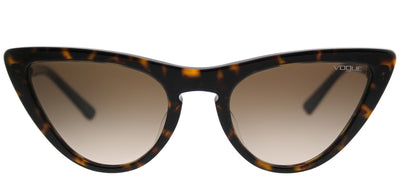 Vogue VO 5211SF W65613 Cat-Eye Plastic Tortoise/ Havana Sunglasses with Brown Gradient Lens