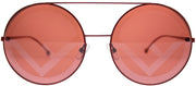 Fendi FF 0285 C9A Round Metal Burgundy/ Red Sunglasses with Red Lens