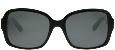 Kate Spade KS Annora/P QOP Rectangle Plastic Black Sunglasses with Grey Polarized Lens