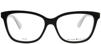 Kate Spade KS Jorja 9HT Square Plastic Black Eyeglasses with Demo Lens