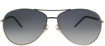 Marc Jacobs Marc 59 84J HD Aviator Metal Silver Sunglasses with Grey Gradient Lens