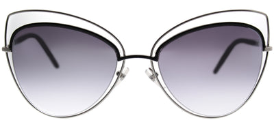 Marc Jacobs Marc 8 25K Cat-eye Metal Ruthenium/ Gunmetal Sunglasses with Silver Mirror Lens
