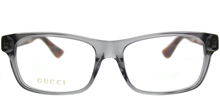 Gucci GG 0006OA 004 Rectangle Plastic Grey Eyeglasses with Demo Lens