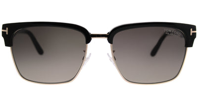 Tom Ford TF 367 01D Square Metal Black Sunglasses with Grey Polarized Lens