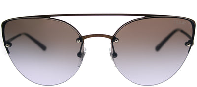 Vogue VO 4074S 5074B7 Cat-Eye Metal Brown Sunglasses with Blue Gradient Mirror Lens