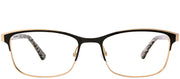 Etnia Barcelona ET Dunkerque BKGD Rectangle Metal Gold Eyeglasses with Demo Lens