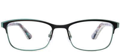 Etnia Barcelona ET Dunkerque BKTQ Rectangle Metal Green Eyeglasses with Demo Lens