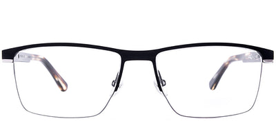 Etnia Barcelona ET Rostock BKSL Rectangle Metal Black Eyeglasses with Demo Lens