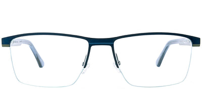 Etnia Barcelona ET Rostock BLGR Rectangle Metal Blue Eyeglasses with Demo Lens