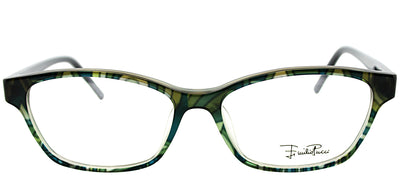 Emilio Pucci EP 2689 341 Rectangle Plastic Green Eyeglasses with Demo Lens