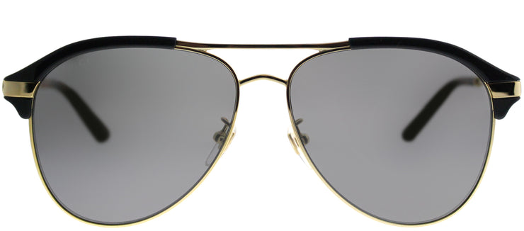 Gucci GG 0288SA 005 Aviator Plastic Blue Sunglasses with Silver Mirror Lens