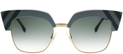 Fendi FF 0241 MVU 9K Square Plastic Blue Sunglasses with Grey Gradient Lens