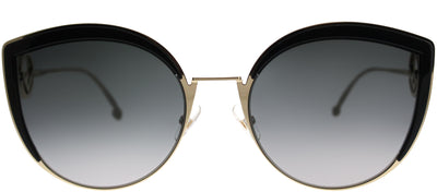 Fendi FF 0290 807 Cat-Eye Metal Black Sunglasses with Grey Gradient Lens