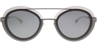 ic! Berlin IC Cancan AshQuartz Round Plastic Grey Sunglasses with Quicksilver Lens