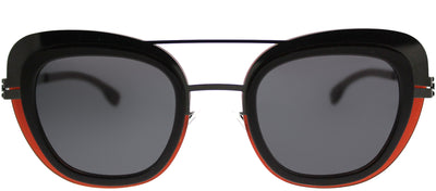 ic! Berlin IC Chichi GunmetalM Cat-Eye Plastic Ruthenium/ Gunmetal Sunglasses with Black Nylon Lens
