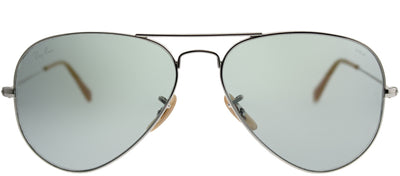 Ray-Ban RB 3025 9065I5 Aviator Metal Silver Sunglasses with Blue Photochromic Evolve Lens