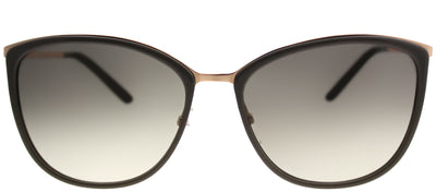 MaxMara MM ClassyI NOB YR Square Plastic Brown Sunglasses with Green Gradient Lens