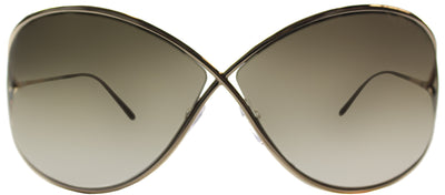 Tom Ford Miranda TF 130 28G Fashion Metal Gold Sunglasses with Brown Gold Mirror Lens