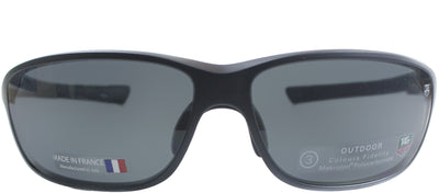 TAG Heuer TAG 6023 101 Sport Plastic Black Sunglasses with Grey Lens