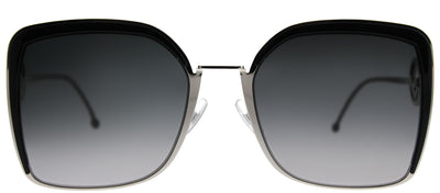 Fendi FF 0294 807 Square Metal Black Sunglasses with Grey Gradient Lens
