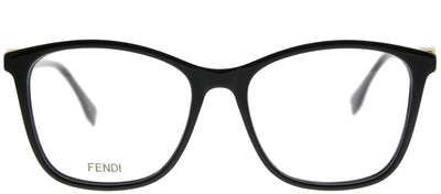 Fendi FF 0300 807 Square Plastic Black Eyeglasses with Demo Lens