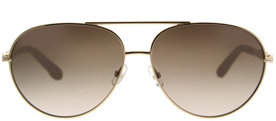 Juicy Couture JU 582 J7F CC Aviator Metal Gold Sunglasses with Brown Gradient Lens