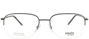 Elasta EL 7220 V81 Semi-Rimless Metal Ruthenium/ Gunmetal Eyeglasses with Demo Lens