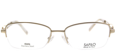Emozioni EM 4351 EY7 Semi-Rimless Metal Gold Eyeglasses with Demo Lens