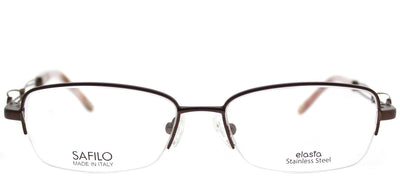 Emozioni EM 4351 FH5 Semi-Rimless Metal Brown Eyeglasses with Demo Lens