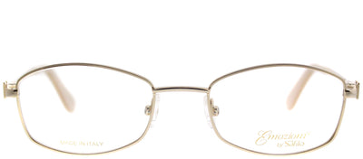 Emozioni EM 4362 J5G Oval Metal Gold Eyeglasses with Demo Lens