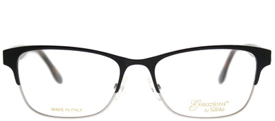 Emozioni EM 4371 WR7 Rectangle Metal Black Eyeglasses with Demo Lens