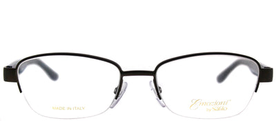 Emozioni EM 4373 HGC Semi-Rimless Metal Brown Eyeglasses with Demo Lens