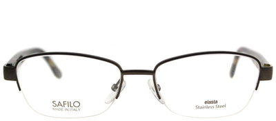 Emozioni EM 4373 WR9 Semi-Rimless Metal Brown Eyeglasses with Demo Lens