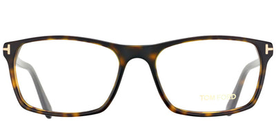 Tom Ford FT 5295 052 Rectangle Plastic Tortoise/ Havana Eyeglasses with Demo Lens