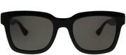 Gucci GG 0001S 001 Square Plastic Black Sunglasses with Grey Lens
