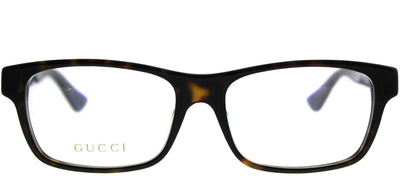 Gucci GG 0006OA 003 Rectangle Plastic Tortoise/ Havana Eyeglasses with Demo Lens