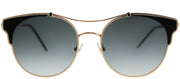 Jimmy Choo JC Lue RHL 1I Cat-Eye Metal Gold Sunglasses with Grey Gradient Lens
